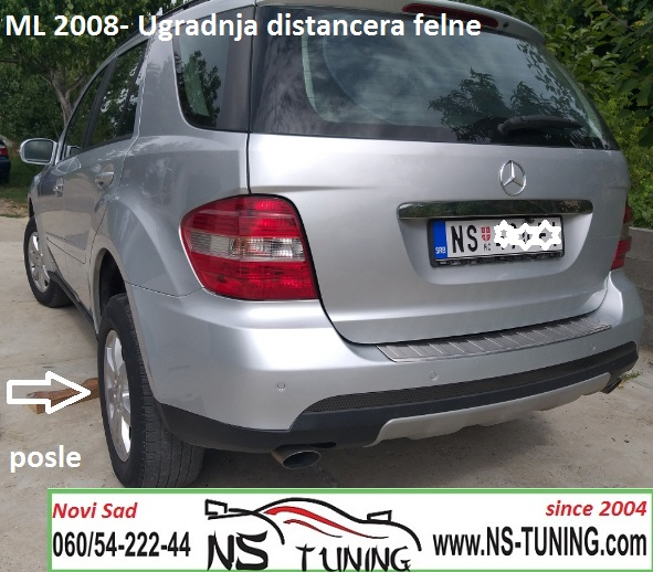 mercedes ml w164 2006 2007 godiste ugradnja distanceri felne 5x112 66.6 20mm novi sad beograd ns tuning