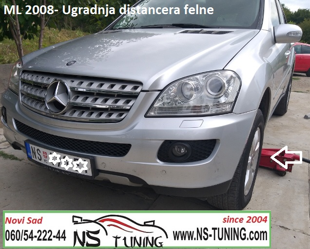 mercedes ml w164 2010 2011 godiste ugradnja distanceri felne 5x112 66.6 20mm novi sad beograd ns tuning