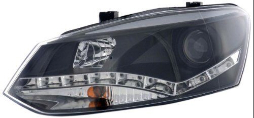 Farovi vw Polo 5 Typ 6R  LED CRNI